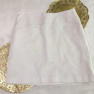 Ann Taylor Loft White Skirt
